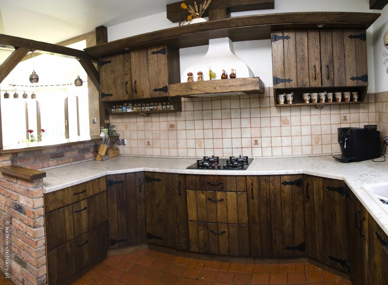 Kuchnia wiejska  Kuchnie Chojnaccy  Meble kuchenne   -> Kuchnie Drewniane Rustykalne